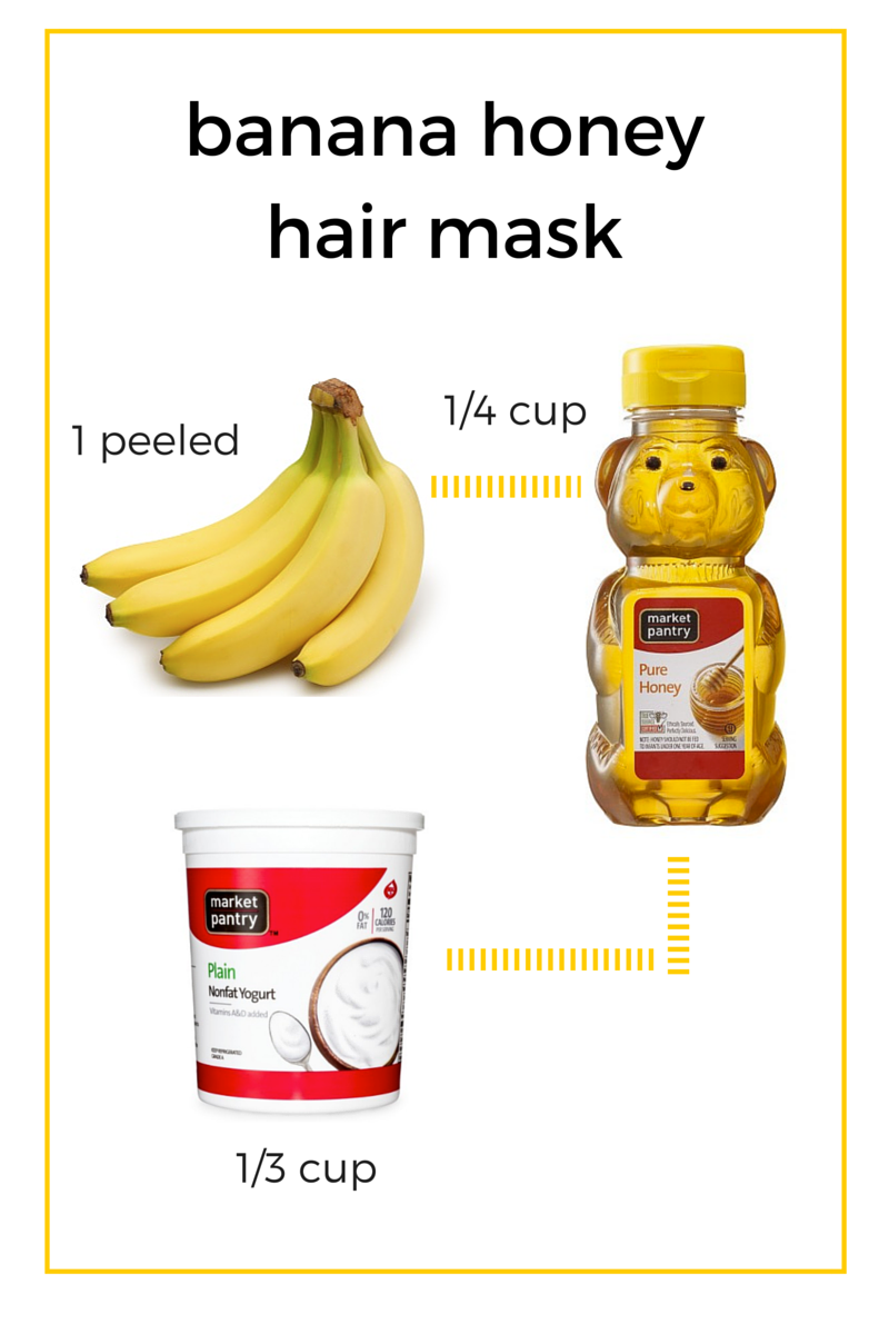 banana honey hair mask (hero)