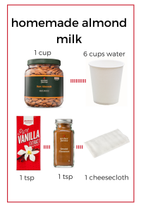 homemade almond milk ingredients