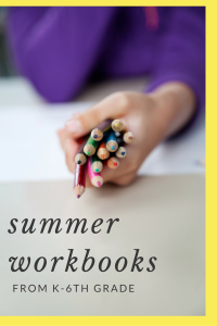 summer workbooks from k-6th grade