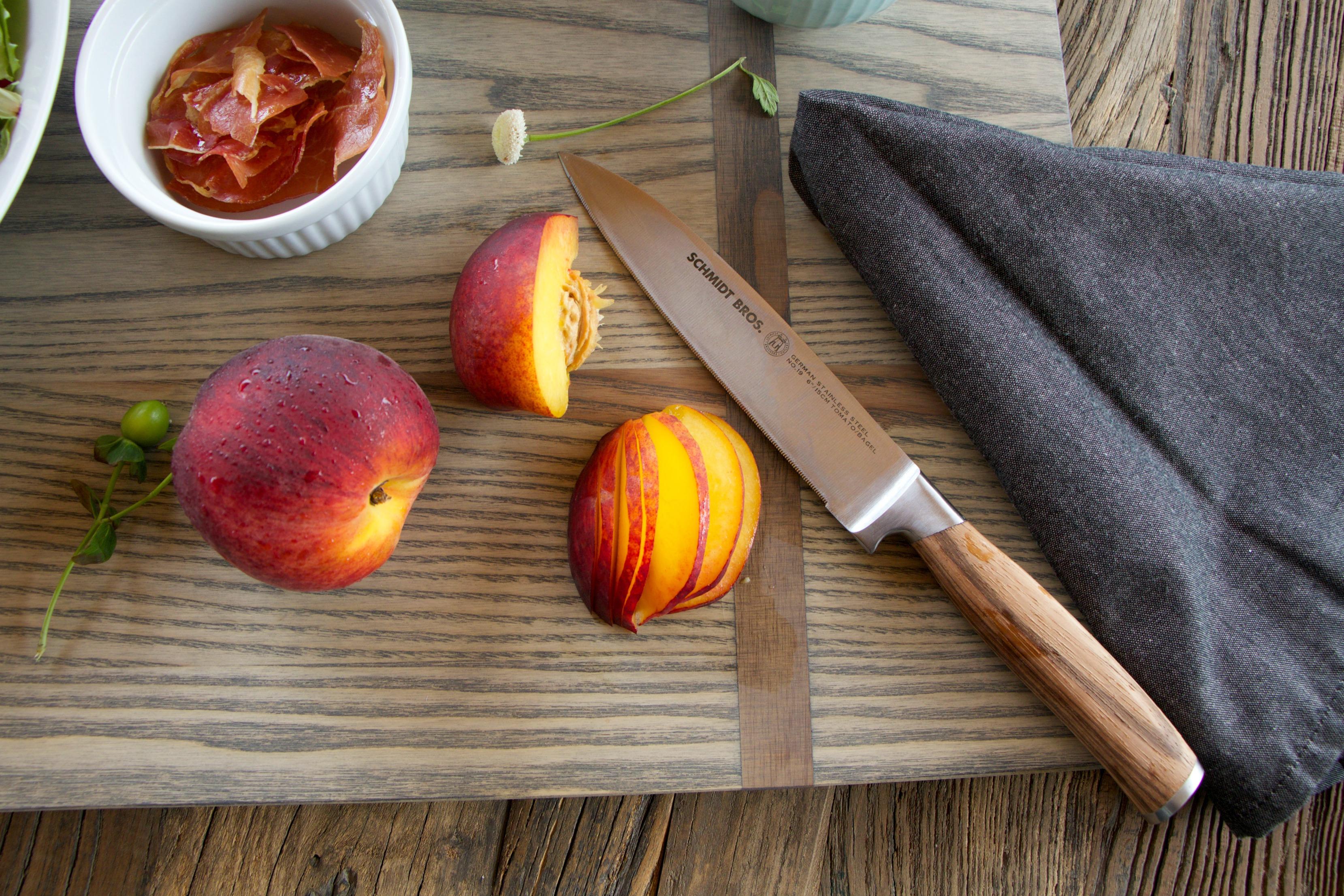 Chop Peaches