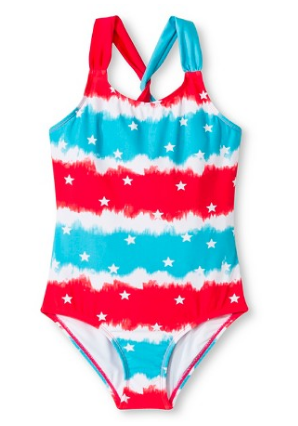 Girl's tie dye swim suit