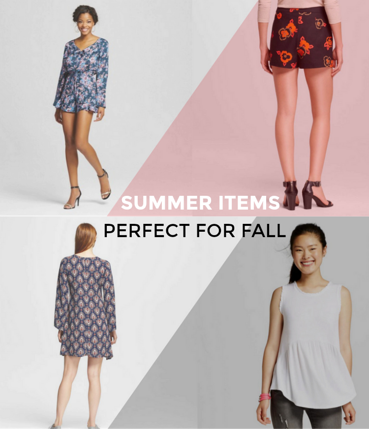 Summer items from Target that are perfect for fall
