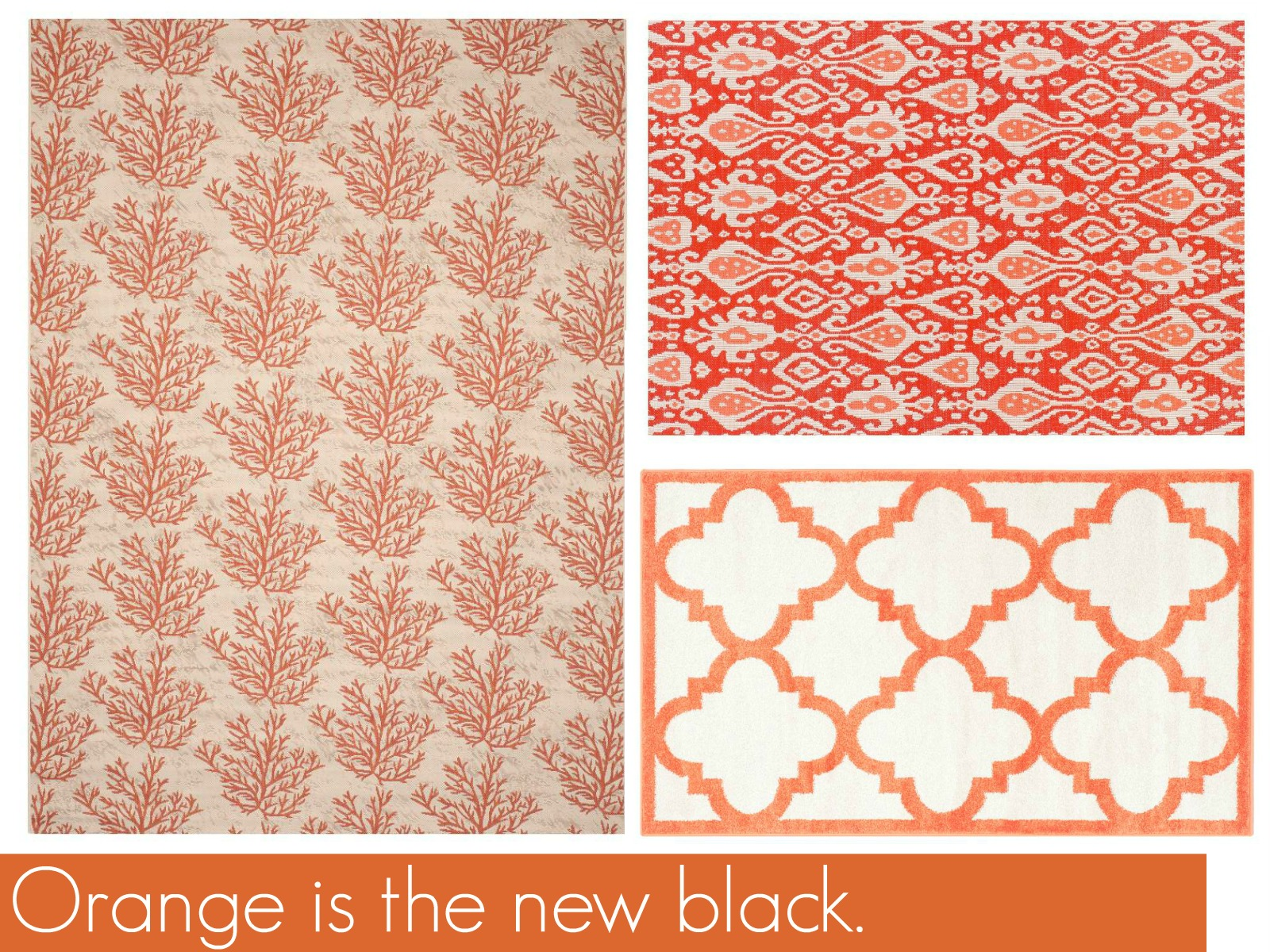 orange outdoor rug