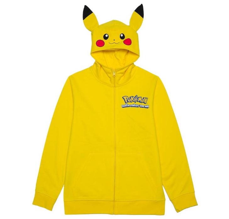 Boys' Pikachu Costume Hood Sweatshirt Yellow