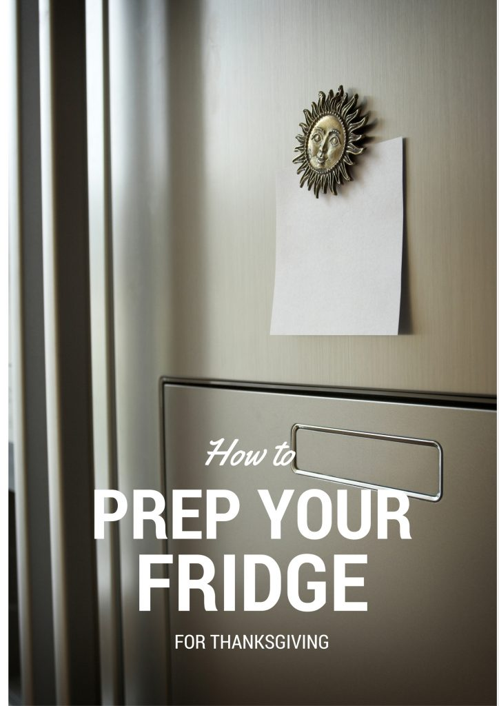 Preparing your Fridge for Thanksgiving