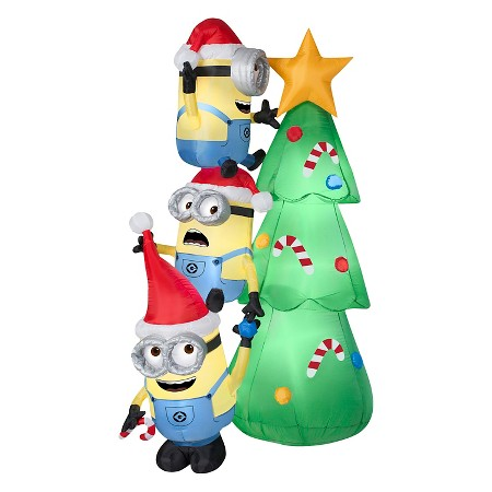 minions christmas tree - Christmas Hippo Outdoor Decoration