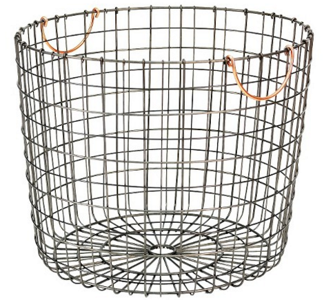 Extra Large Round Wire Decorative Storage Bin
