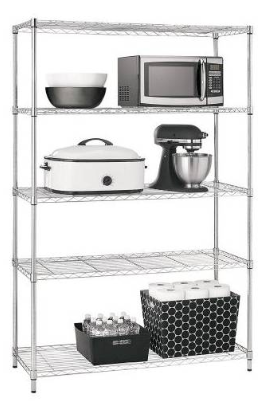 Adjustable 5-Tier Wire Wide Shelving Unit