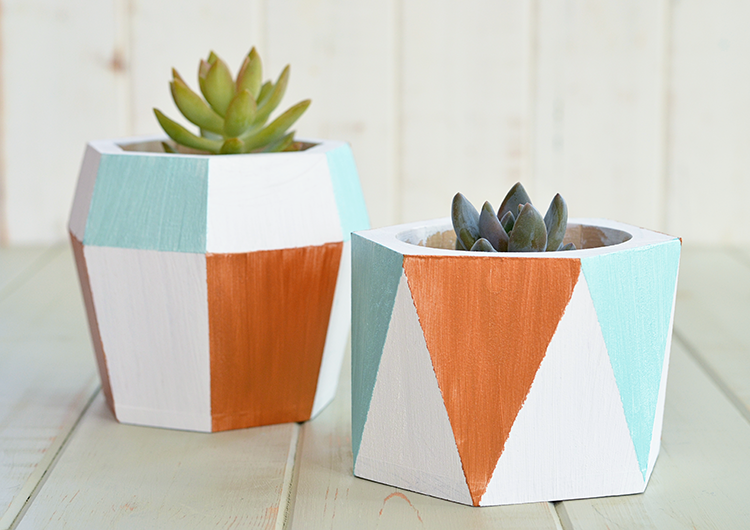 Hand Painted Geometric Planters