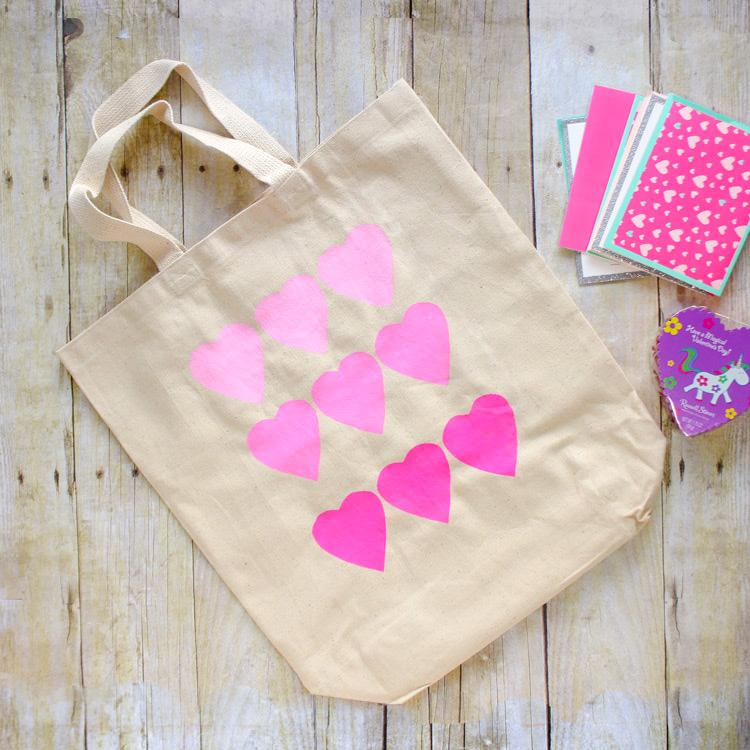 DIY Valentine's Tote Bag