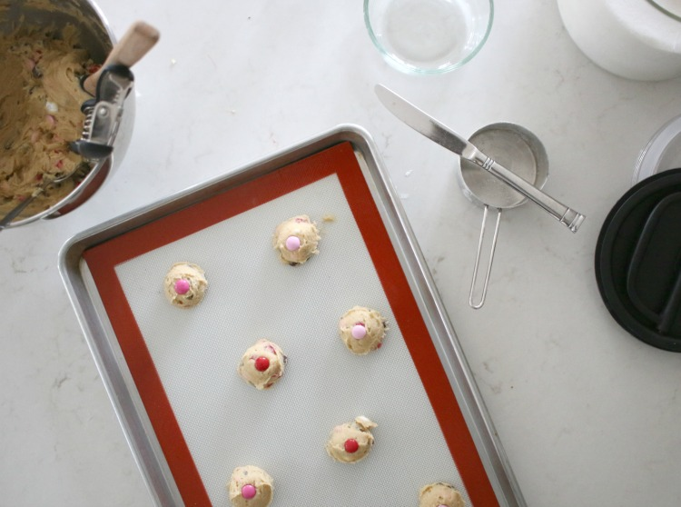 cookies on a pan before being baked
