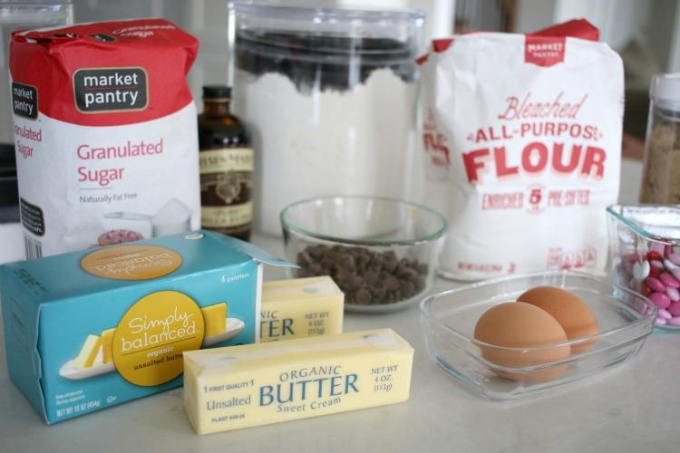 market pantry ingredients for cookies