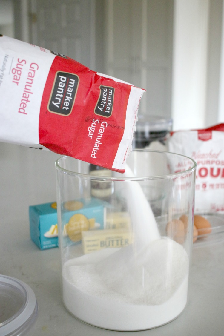 pouring market pantry sugar for cookies from Target