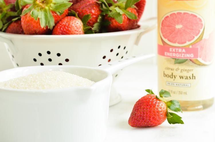 Handmade Strawberry Ginger Sugar Scrub Recipe