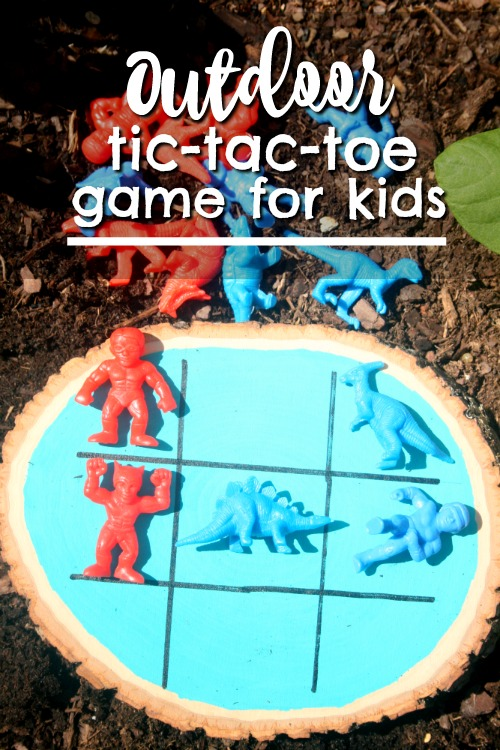 Outdoor Tic Tac Toe Game for Kids