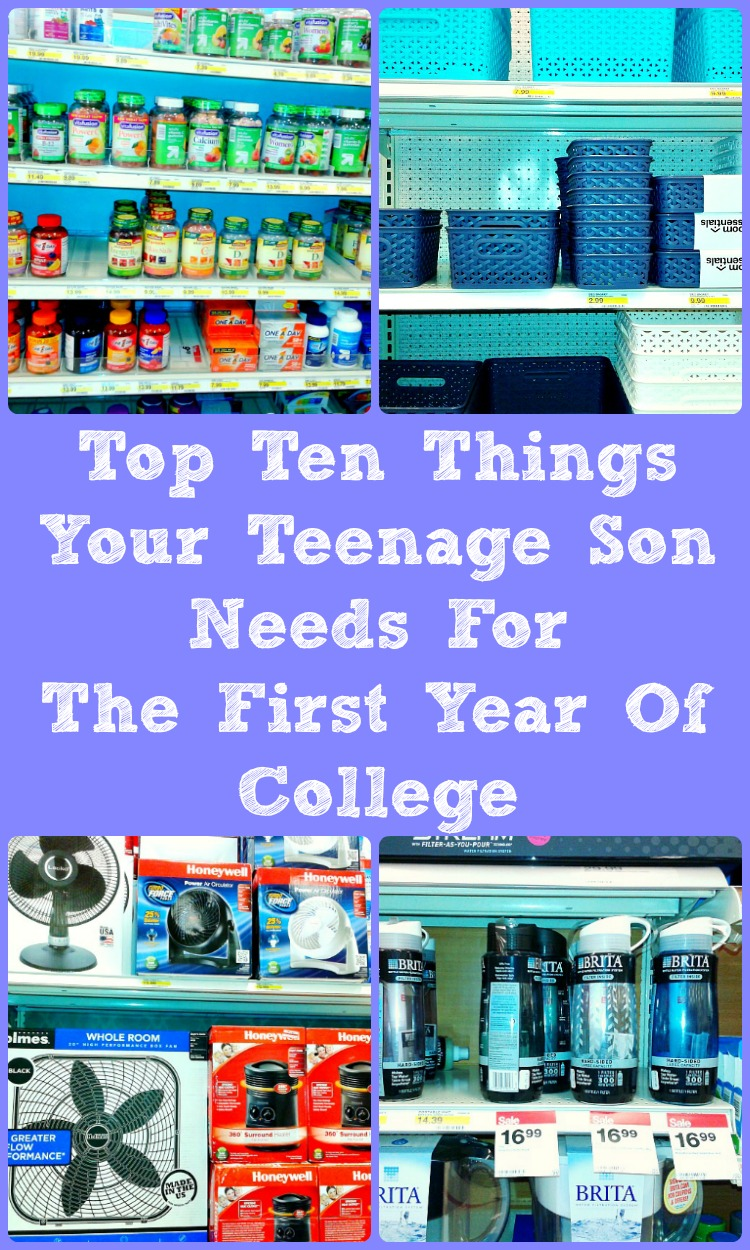 top ten things your teenage son needs for the first year of college