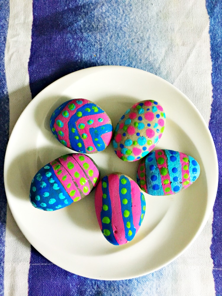 Basket Making Supplies Massachusetts : Painted stone easter egg craft for kids target made me do it