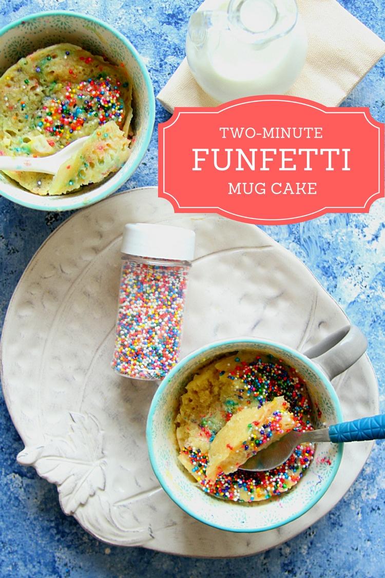 TWO MINUTE FUNFETTI MUG CAKE - ANJANA DEVASAHAYAM