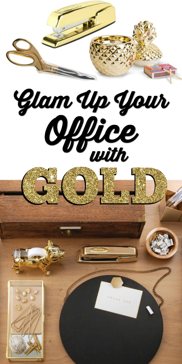 Glam Up Your Office with Gold | Targetmademedoit.com
