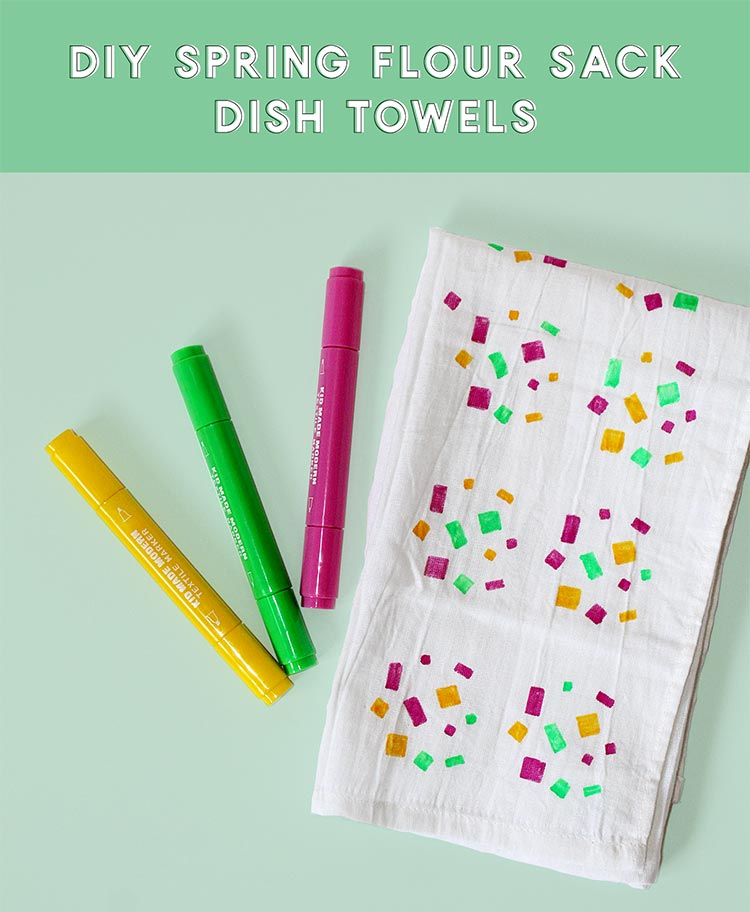 DIY Spring Flour Sack Towels Hero Title