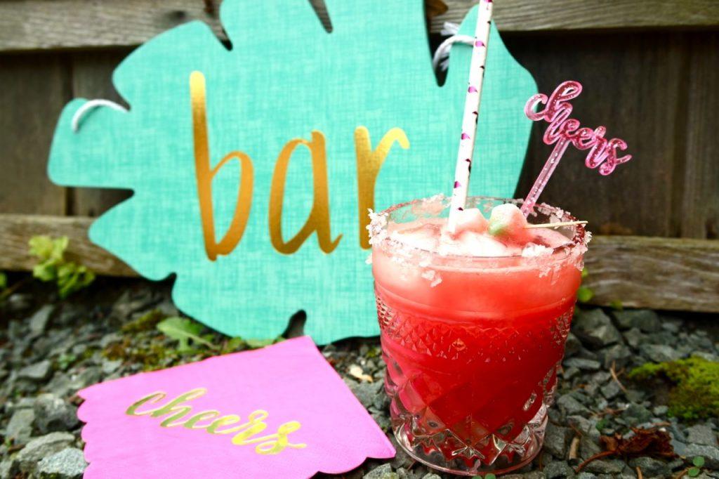 pink summer drink