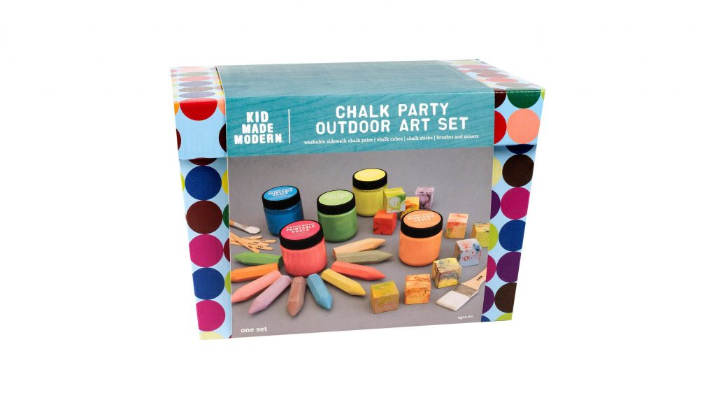 chalk party outdoor art set