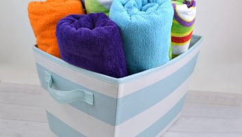 Simple tips to organize beach towels for a busy summer.