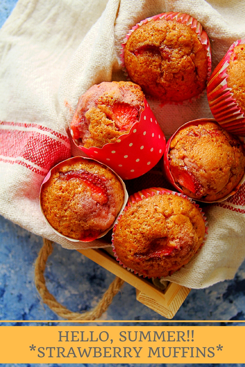 HELLO SUMMER STRAWBERRY MUFFINS - ANJANA DEVASAHAYAM
