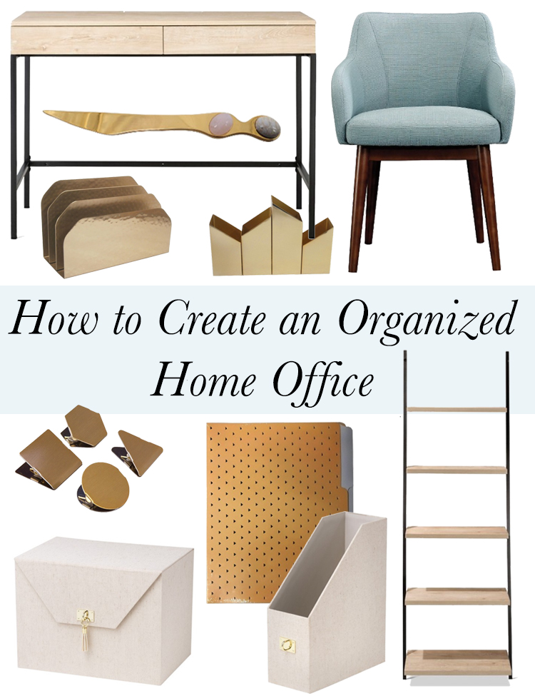 how to create an organized home office