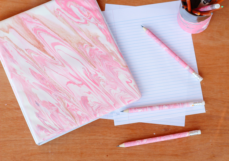 Diy Marble Design On School Supplies Target Made Me Do It