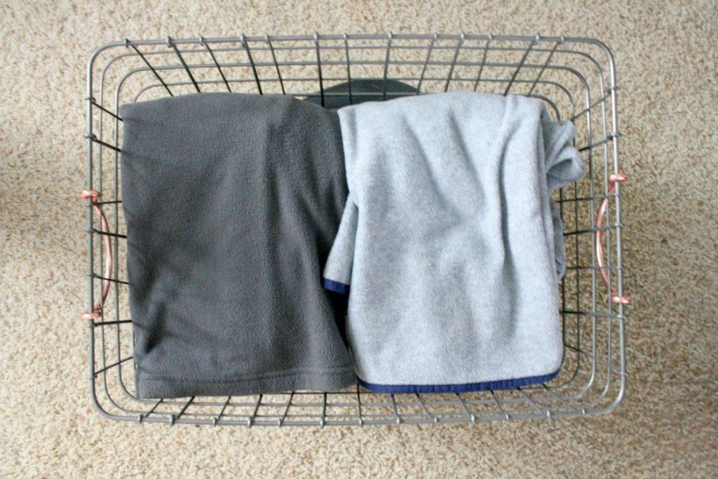 Target jacket storage basket