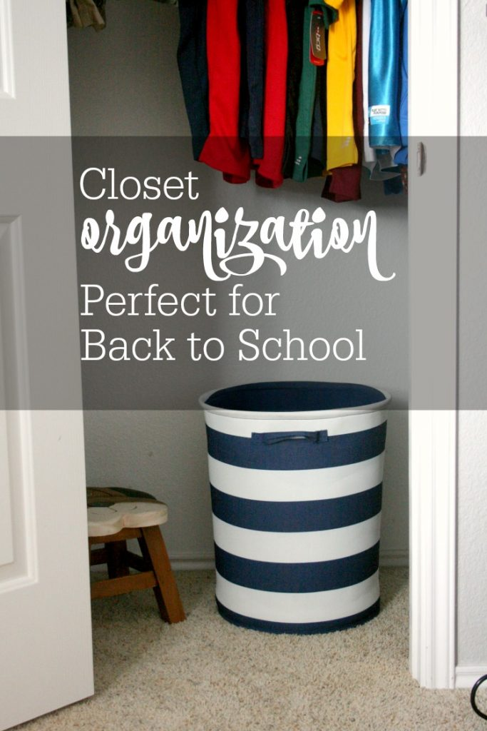 closet organization for back to school cover