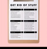 January Checklist: Get rid off stuff you don't use printable