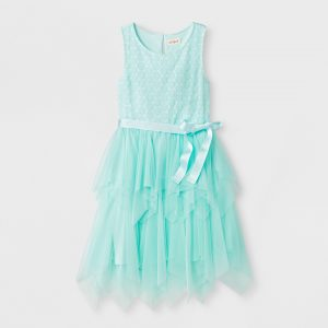 Girls' Embroidery Dressy Dress - Cat & Jack™ Aqua