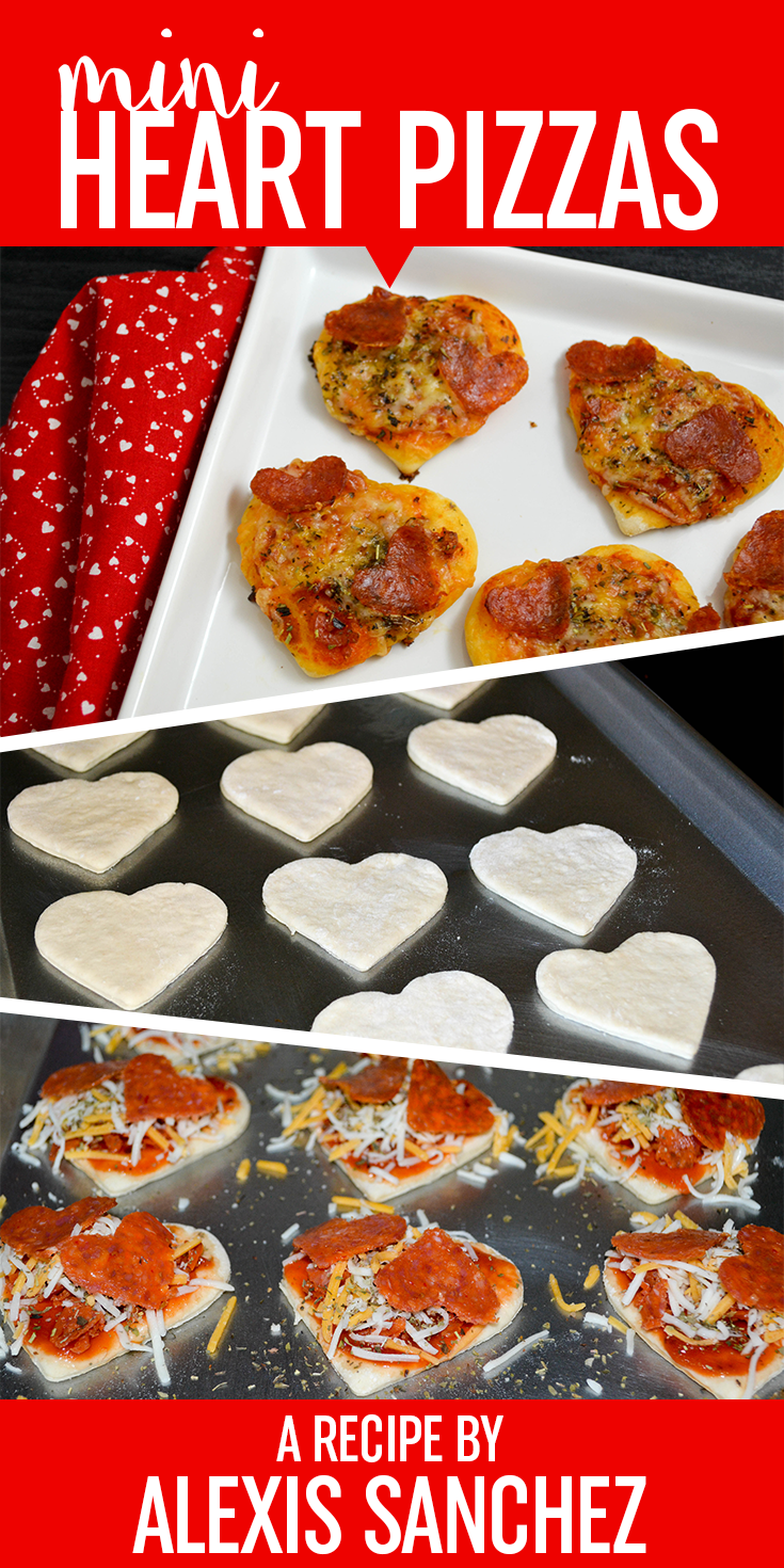 With Valentine's Day around the corner, now is the perfect time to get out your heart-shaped cookie cutters (yes, those ones you found at Target!) and get to work on this quick & easy pizza recipe. This recipe is ideal for adults and kids too. You can even personalize them with any toppings you love. Or even have a pizza party and have everyone make their own!