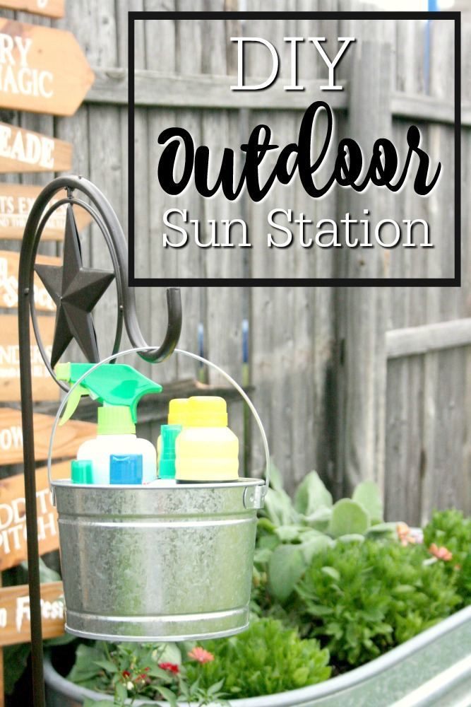 Sunblock station bucket