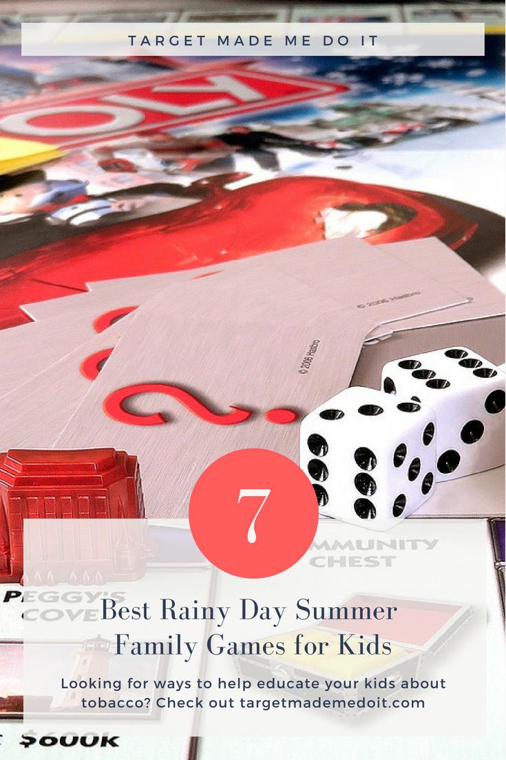 7 Best Rainy Day Summer Family Games for Kids