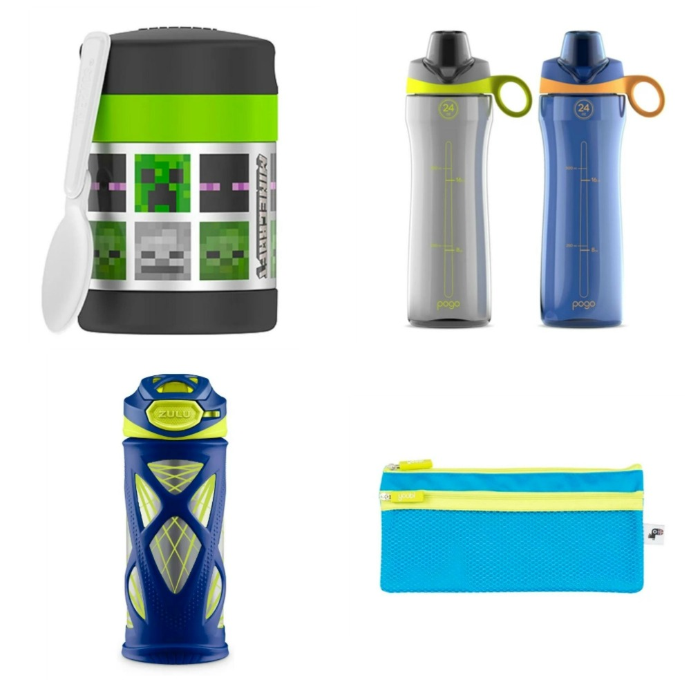 d52328430d Back to school gear is not limited to backpacks and lunch boxes. Water  bottles, food containers and even pencil cases can help make a statement  for your ...