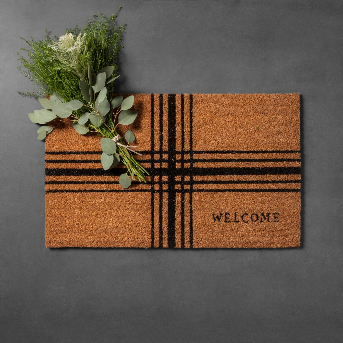 Plaid Doormat