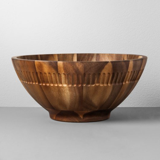 Wood Serving Bowl